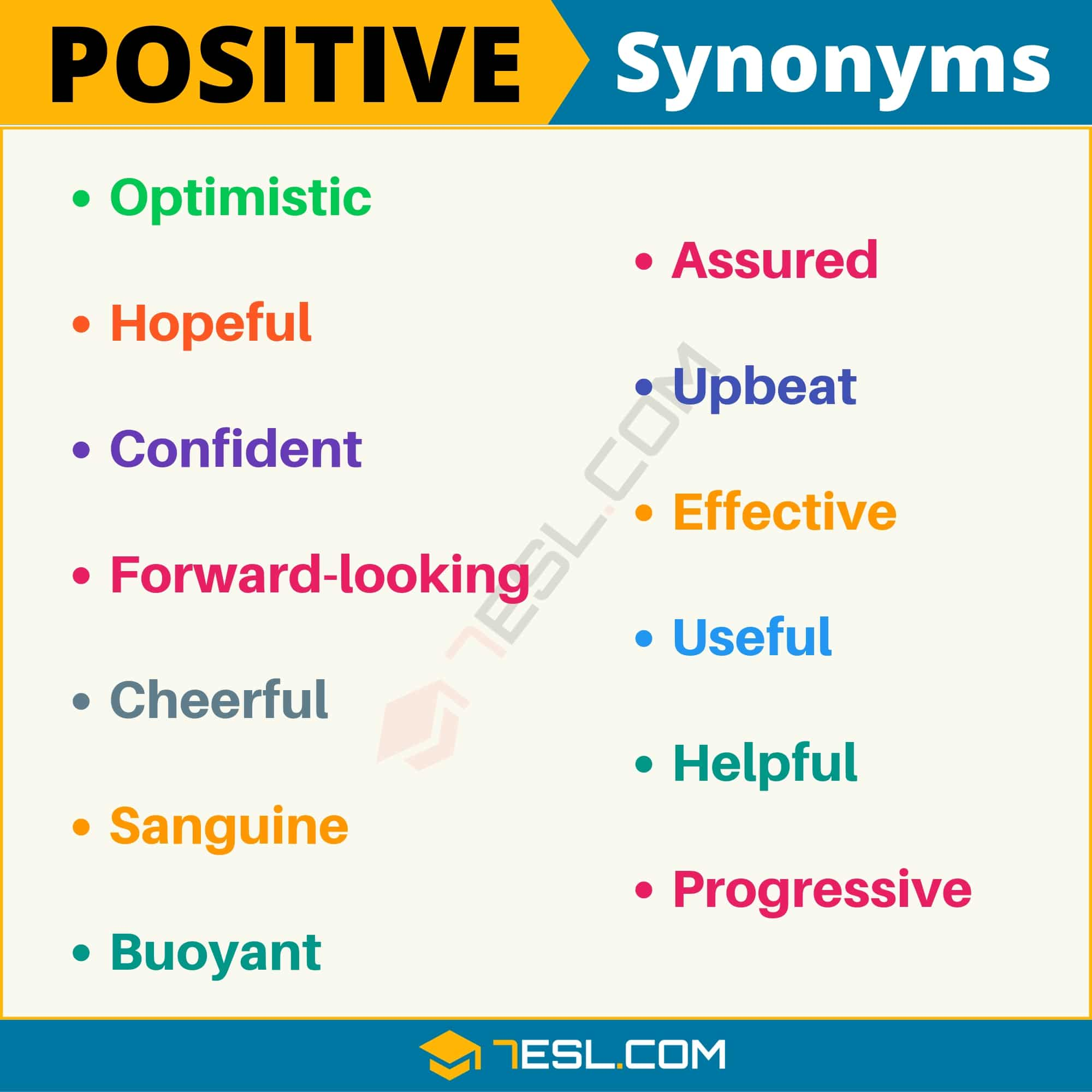 "Another Word for Positive | List of 100+ Synonyms for ""Positive"" with Examples"