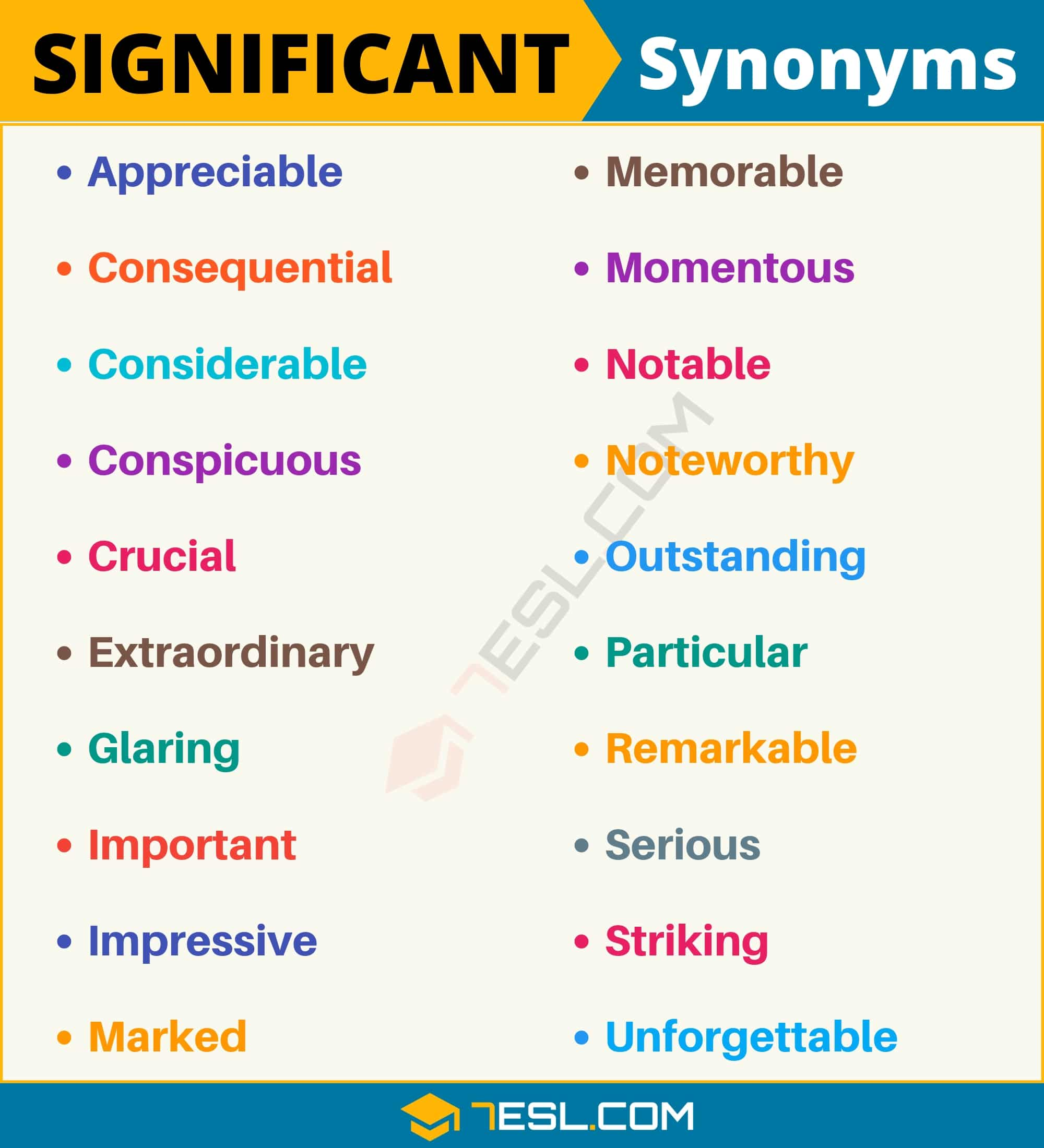 SIGNIFICANT Synonym: 20 Synonyms for Significant with Useful Examples