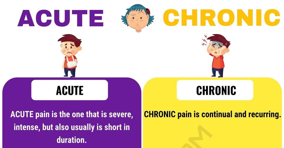 Acute vs. Chronic