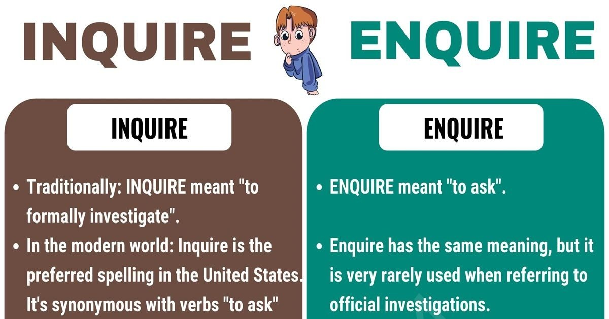INQUIRE vs ENQUIRE