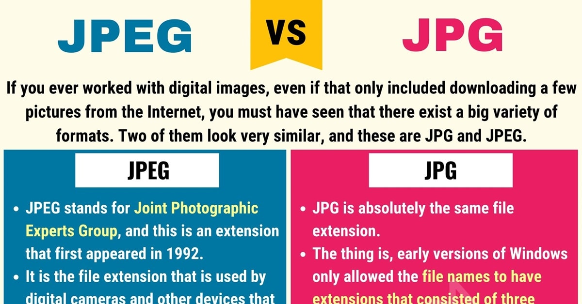 JPG vs. JPEG