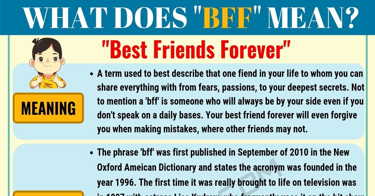 BFF Meaning: What Does BFF Mean and Stand for? 1