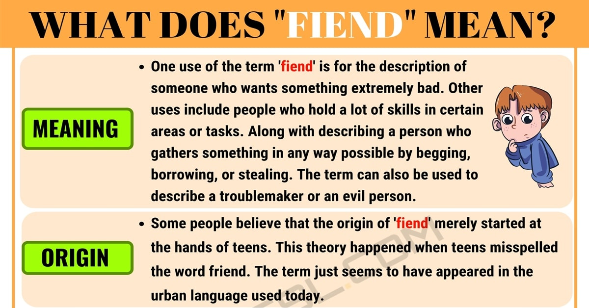 "Fiend Meaning: What Does the Slang Term ""Fiend"" Mean? with Useful Examples 1"
