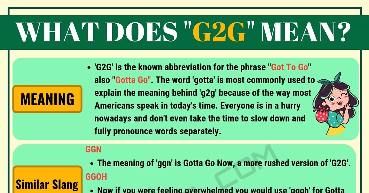 G2G Meaning: What Does G2G Mean and Stand for? 1