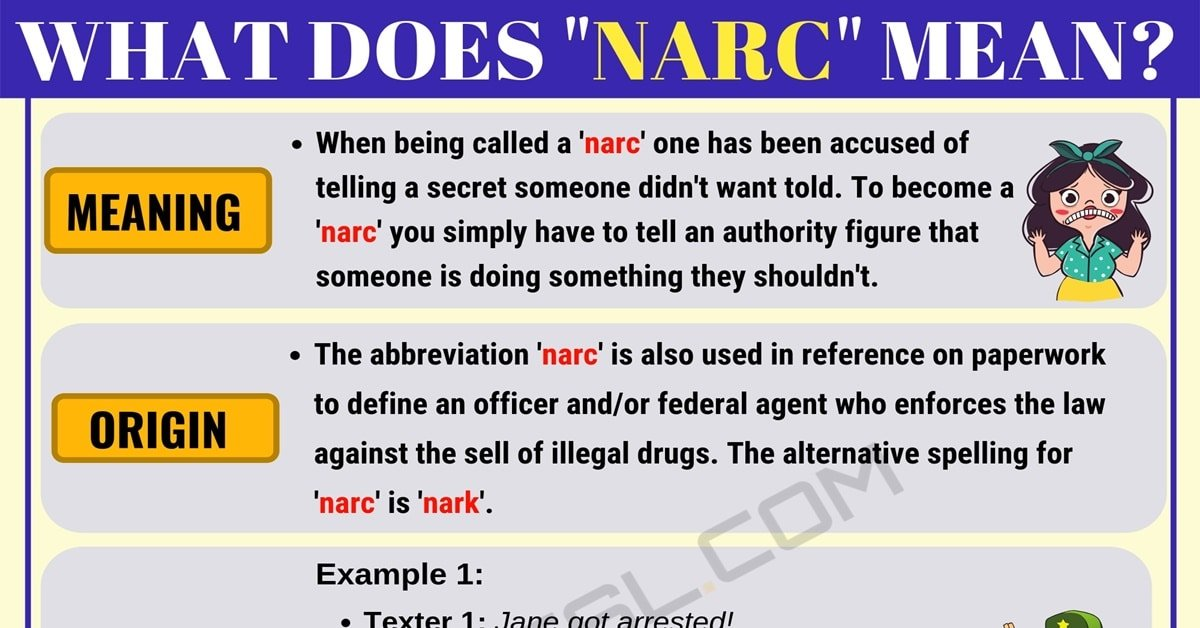 NARC Meaning: What Does NARC Mean? with Useful Examples 1