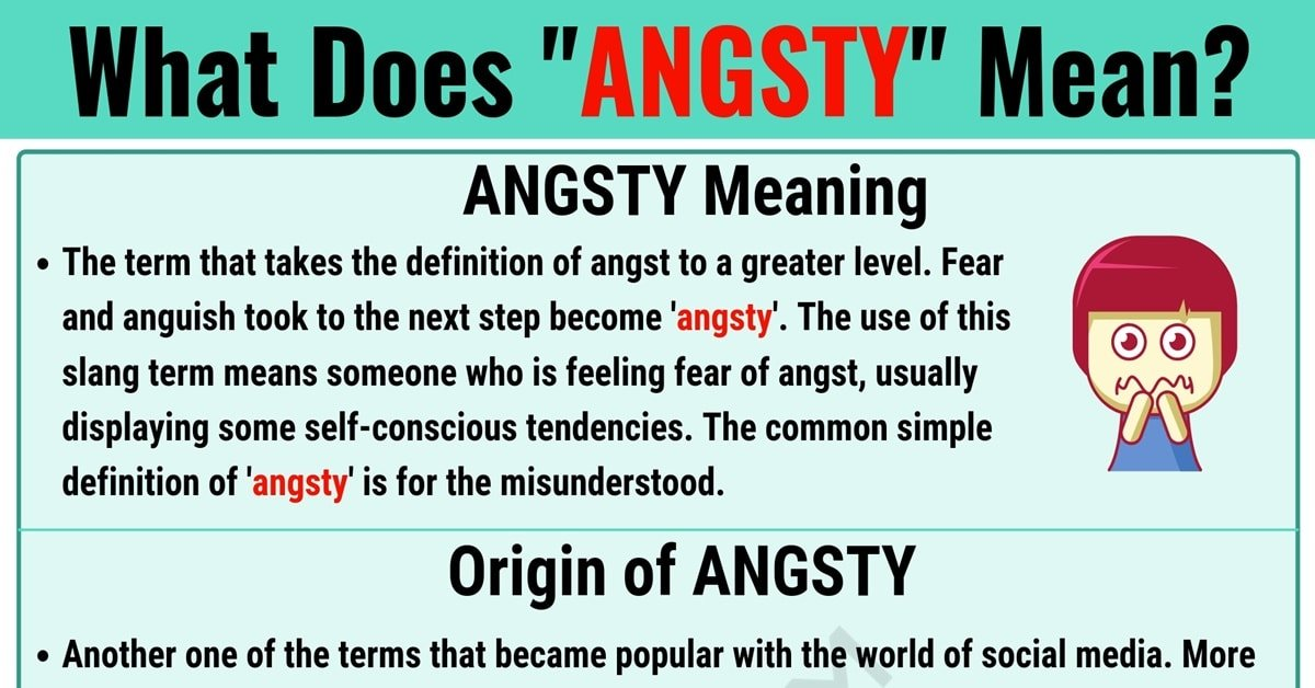 Angsty Meaning: What Does Angsty Mean? with Useful Text Conversations 1