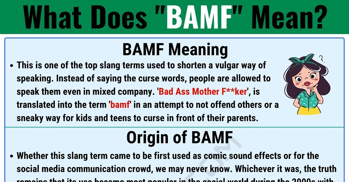 BAMF Meaning: What Does BAMF Mean and Stand for? 1