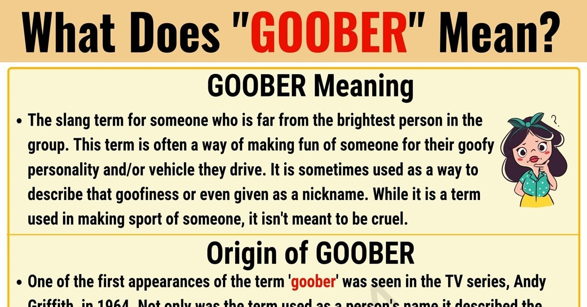 Goober Meaning: What Does Goober Mean? with Useful Examples 1
