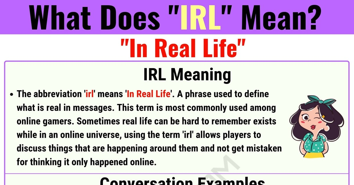 IRL Meaning: What Does IRL Mean? with Useful Examples 1