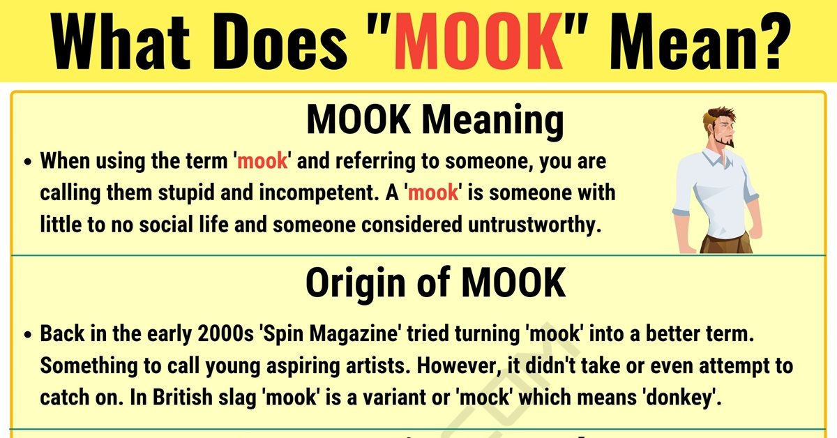 Mook Meaning: What Does Mook Mean? with useful Examples 1