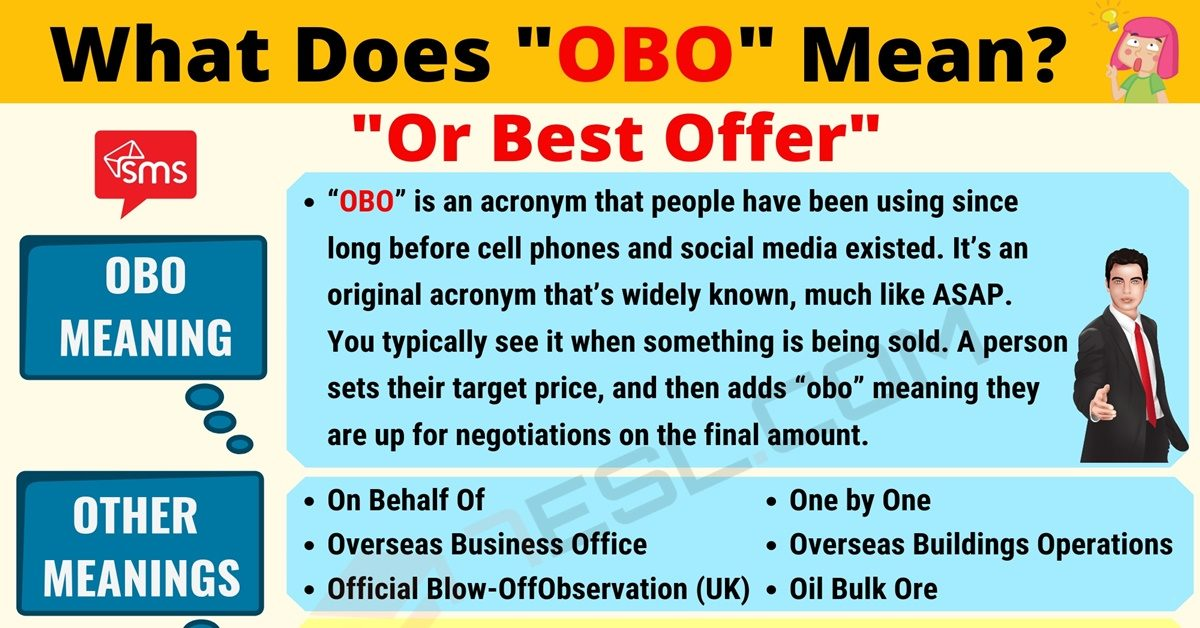 OBO Meaning: What Does OBO Mean? Useful Text Conversations 1