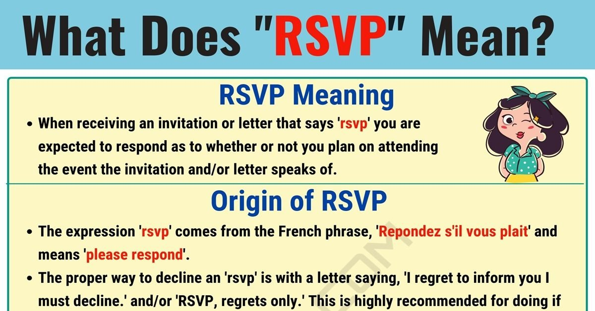 RSVP Meaning: What Does RSVP Mean and Stand for? 1