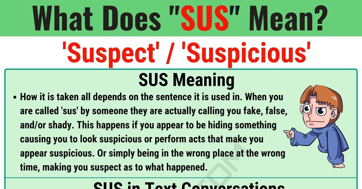 SUS Meaning: What Does SUS Mean and Stand for? 1