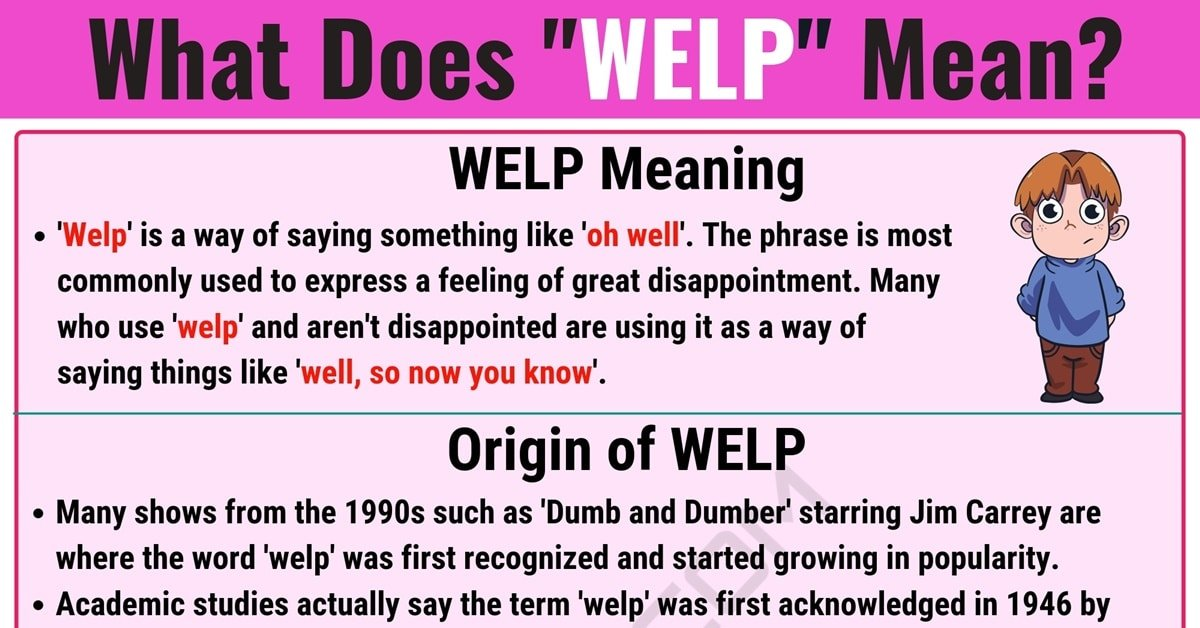 Welp Meaning: What Does Welp Mean? with Useful Examples 1