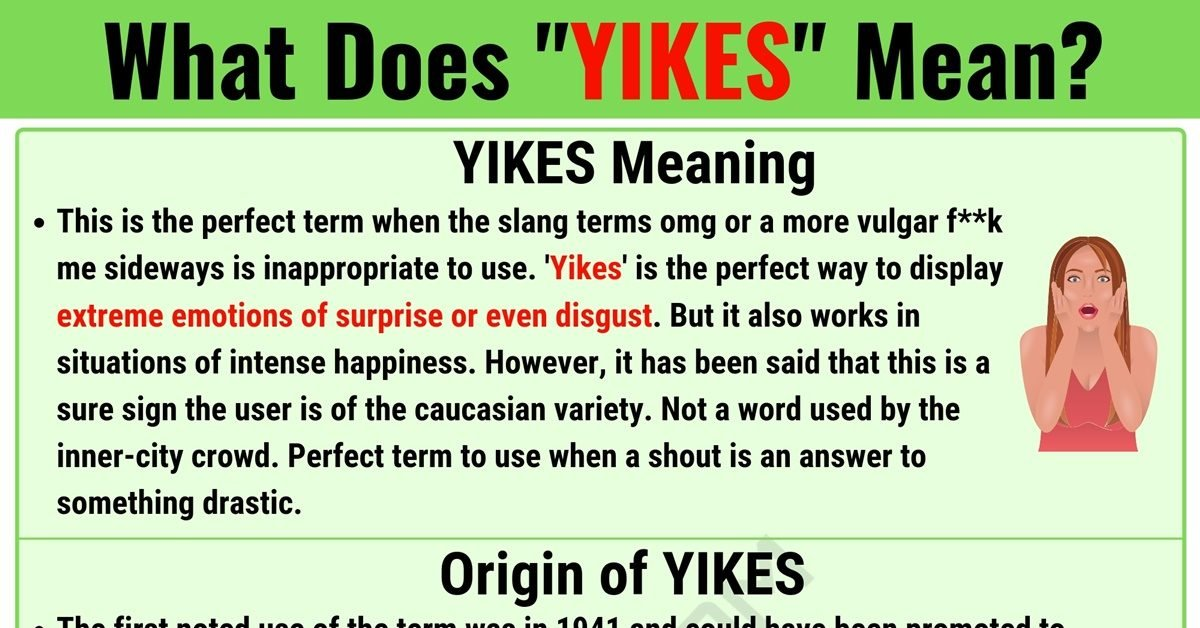 YIKES Meaning: What Does YIKES Mean? with Useful Examples 1