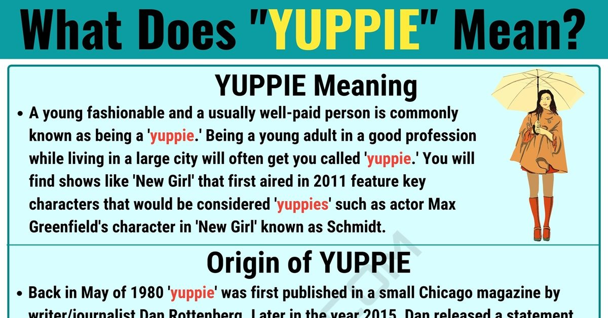 Yuppie Meaning: What Does Yuppie Mean? with Useful Conversations 1
