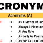Acronym Definition & Big List of 3000+ Acronyms from A-Z