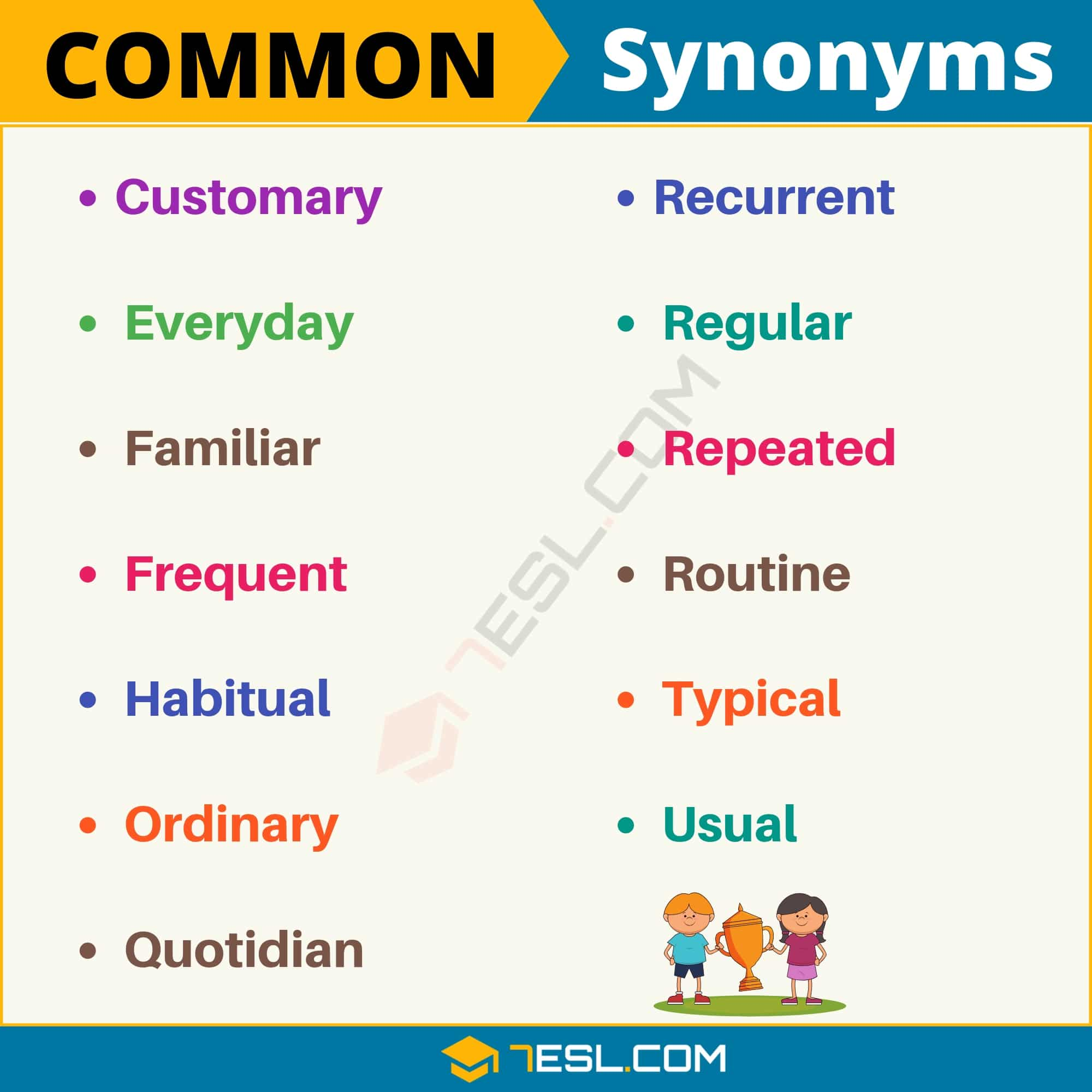Common Synonym: List of 13 Synonyms for Common with Examples
