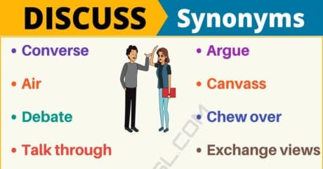 DISCUSS Synonym: List of 16 Synonyms for Discuss with Useful Examples
