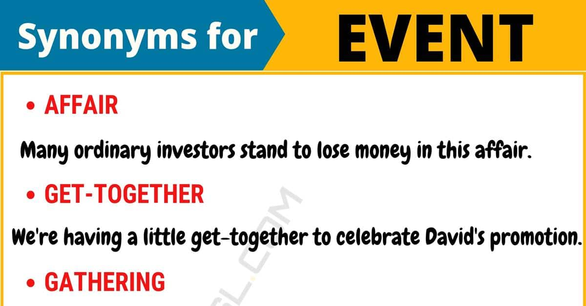 """Another Word for """"Event"""" 