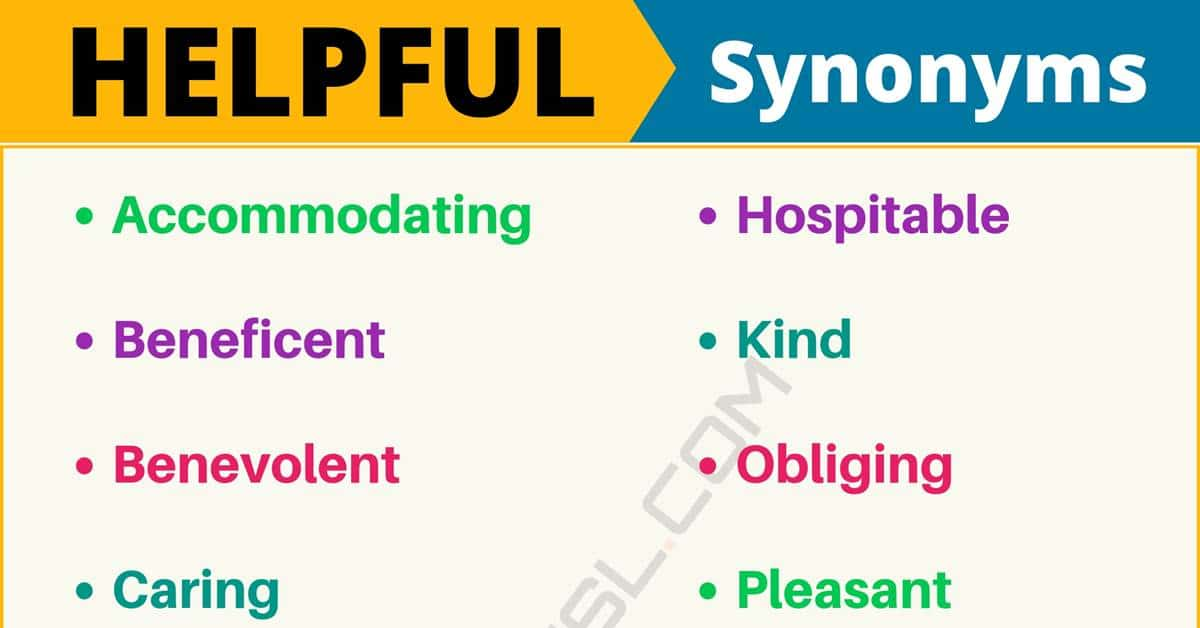 """Another Word for """"Helpful"""" 