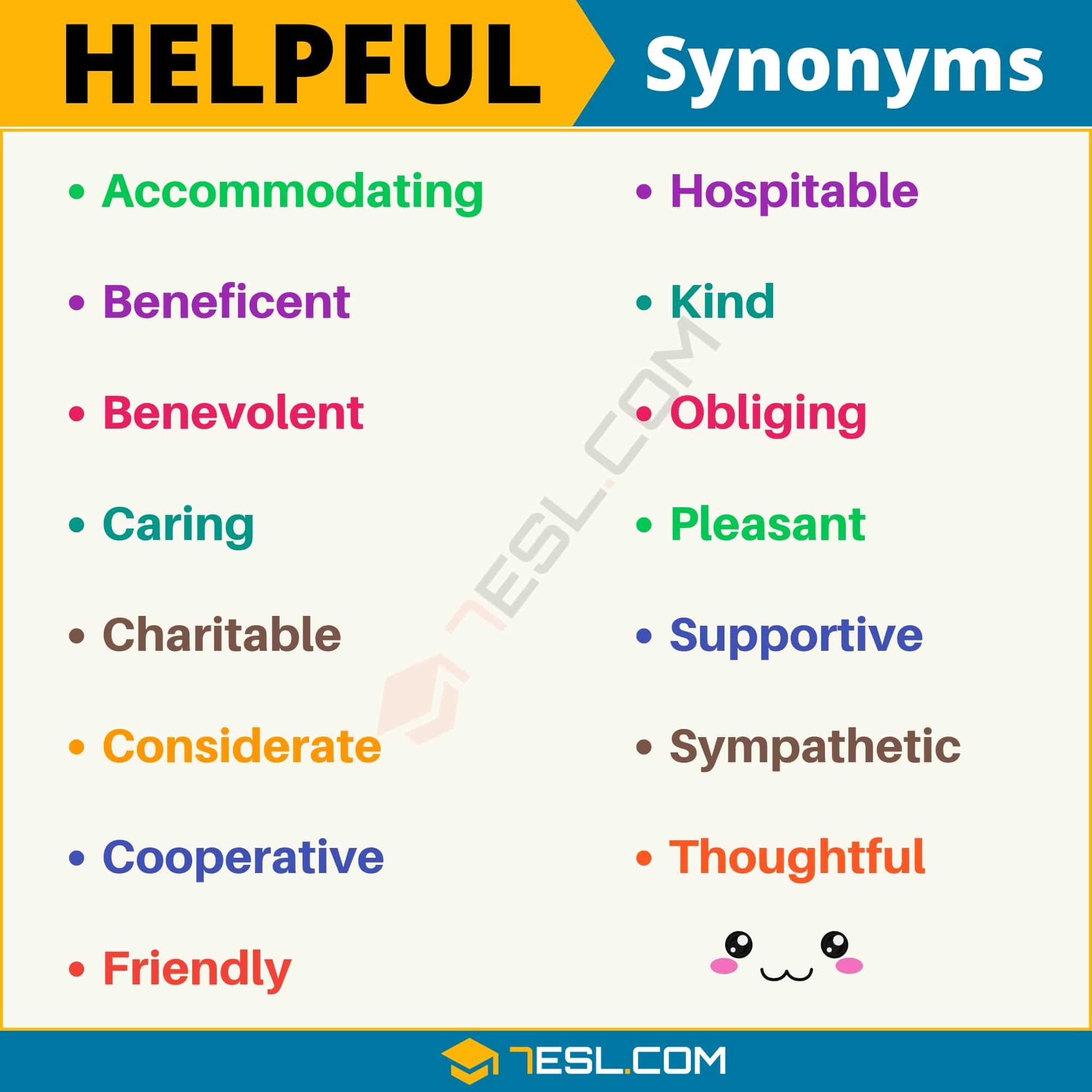 HELPFUL Synonym: List of 15 Synonyms for Helpful with Examples