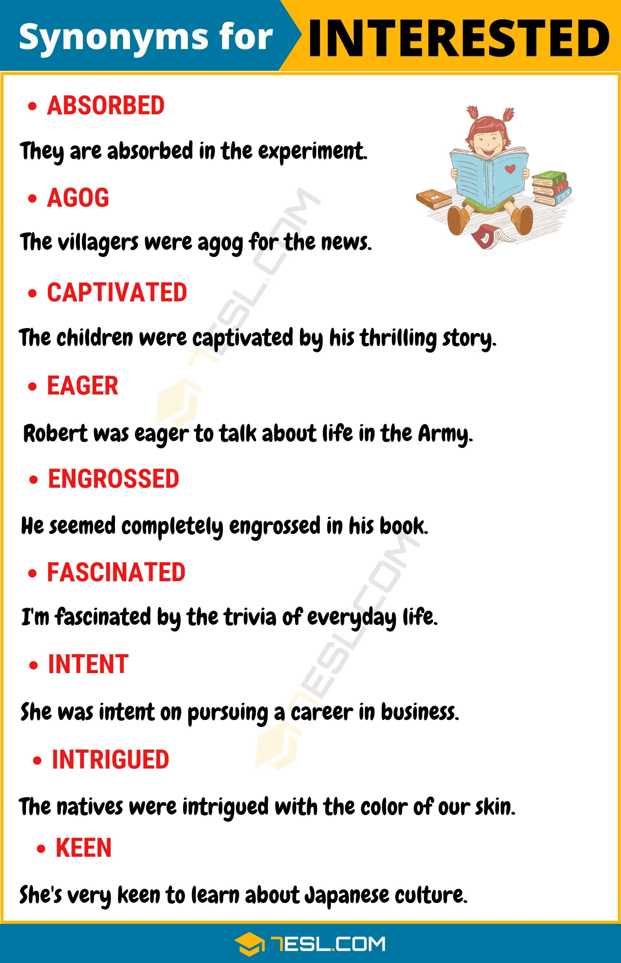 """Another Word for Interested 