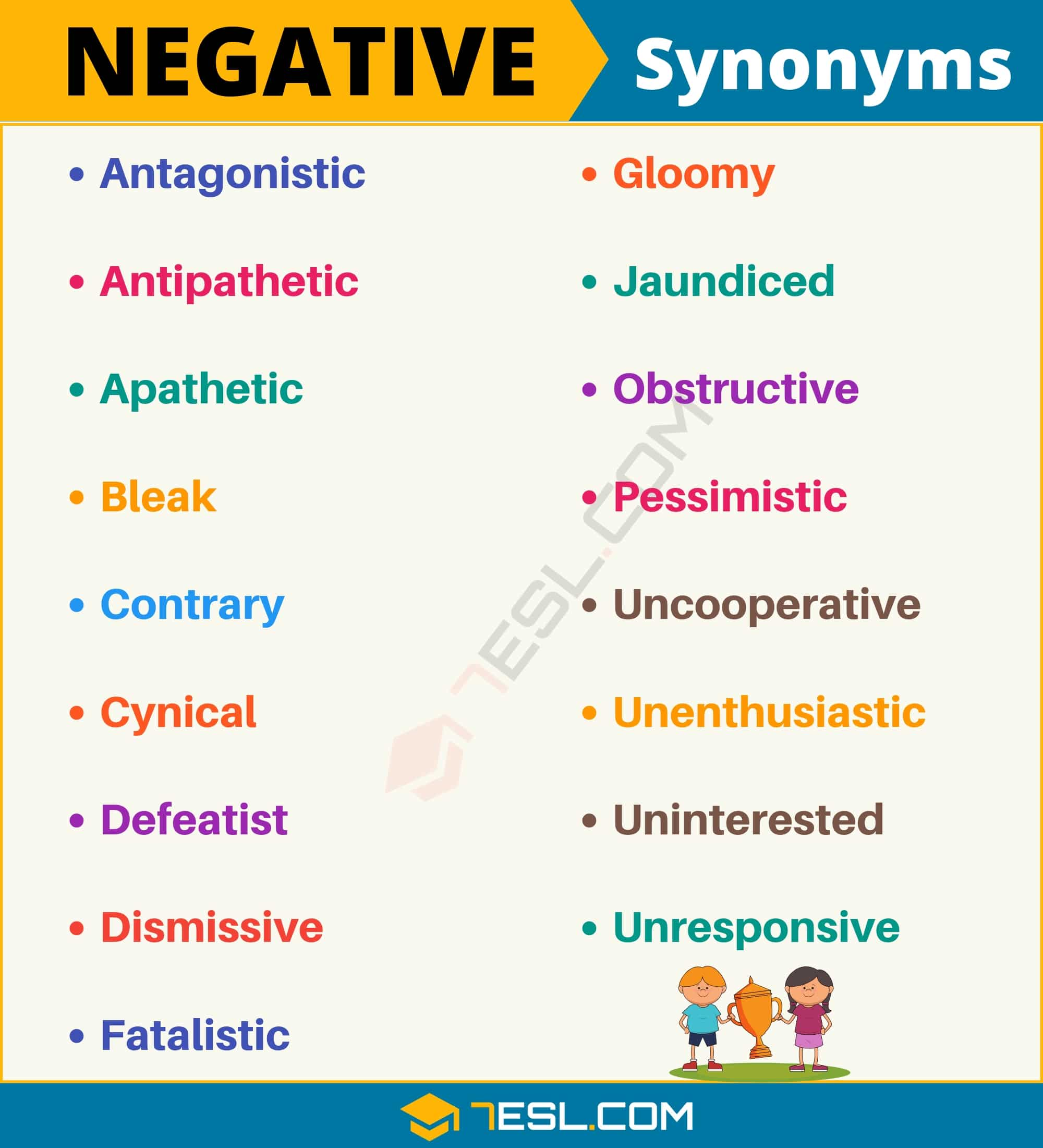 NEGATIVE Synonym: List of 17 Synonyms for Negative with Useful Examples