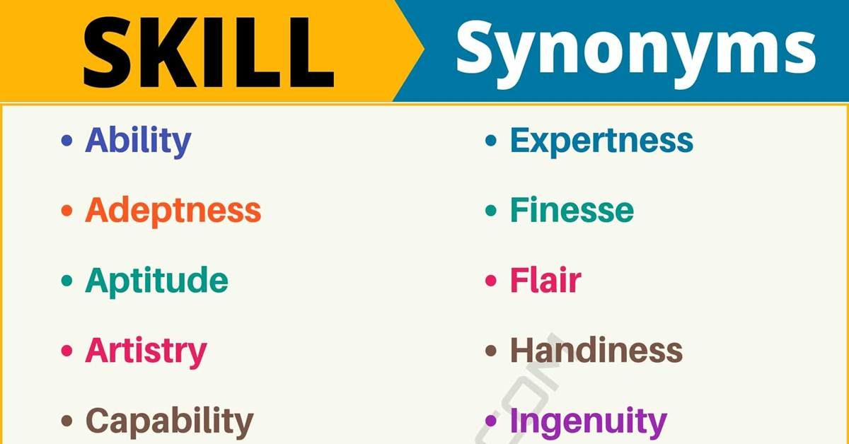 SKILL Synonym: List of 95+ Synonyms for Skill with Useful Examples 1