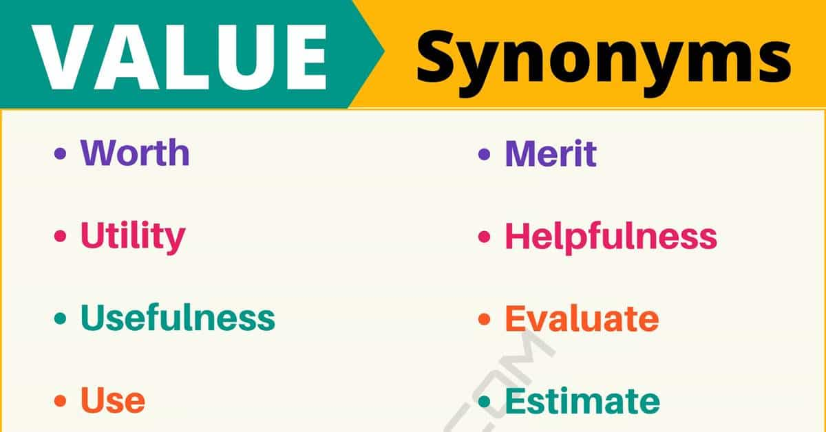 """Another Word for """"Value"""" 