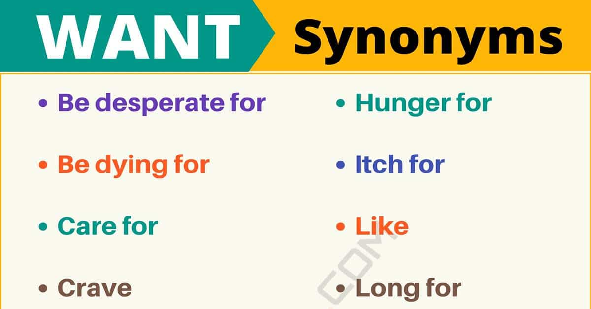 "Another Word for ""Want"" 