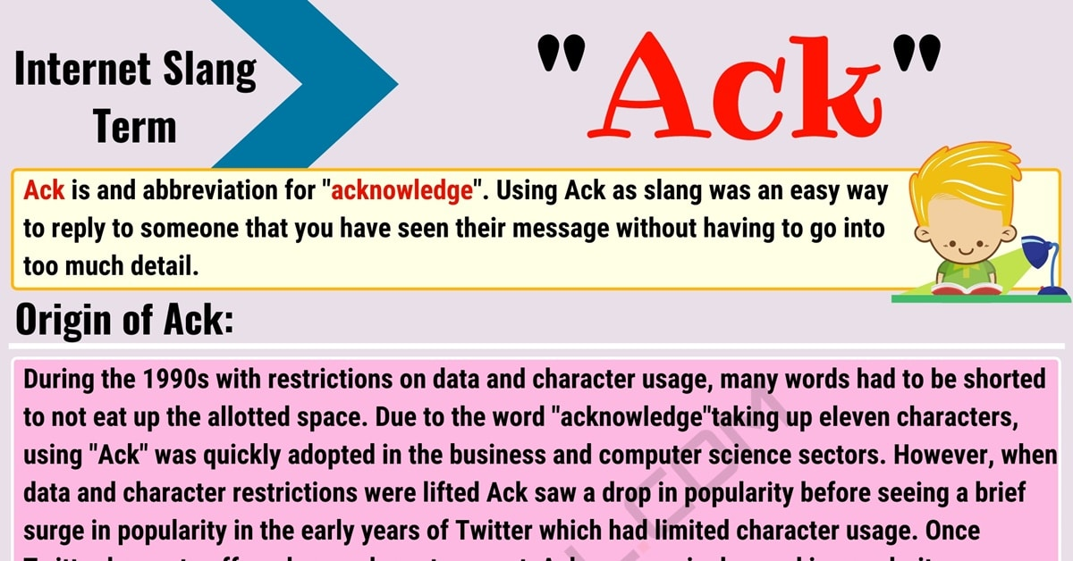 "Ack Meaning: What in the World Does the Useful Term ""Ack"" Mean? 1"