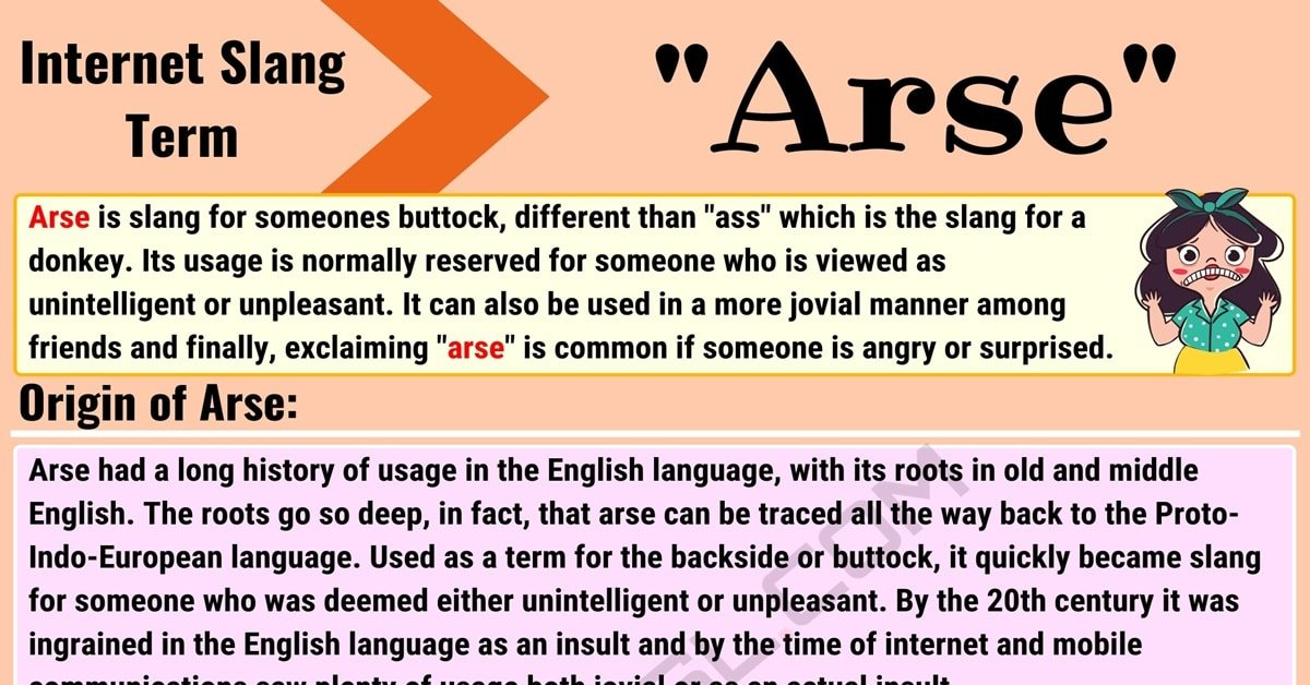 """Arse Meaning: What Does the Slang Term """"Arse"""" Mean? (with Useful Examples) 1"""