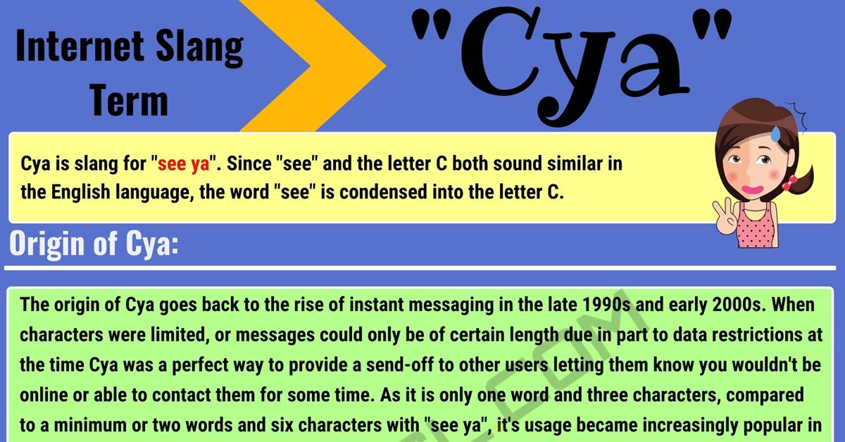 Cya Meaning: What Does Cya Mean? with Useful Conversations 1