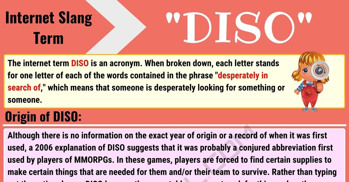 DISO Meaning: What is the Definition of DISO? (with Useful Conversations) 1