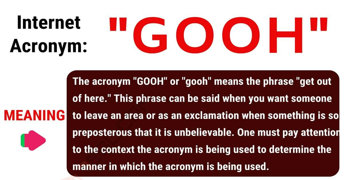 "GOOH Meaning: How to Use the Well-Known Term ""GOOH""? 1"