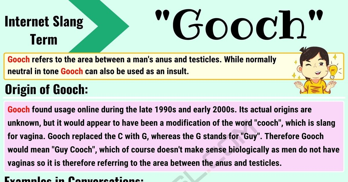 "What Is 'Gooch'? What Does the Interesting Slang Term ""Gooch"" Mean? 1"