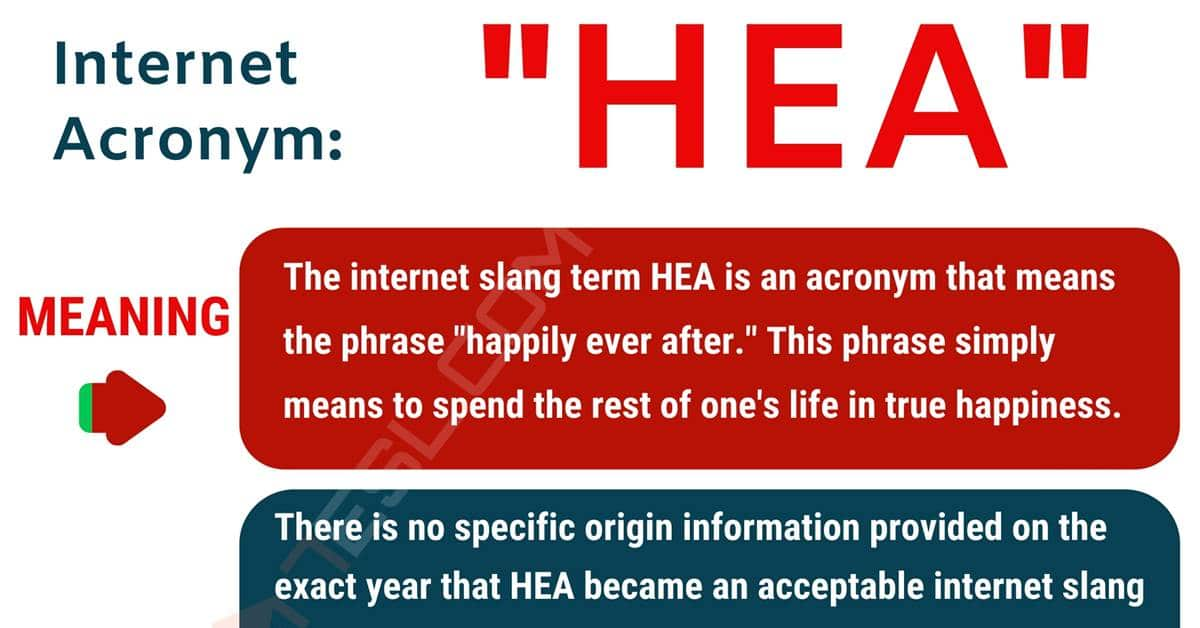 """HEA Meaning: What Does the Happy Acronym """"HEA"""" Mean? 1"""
