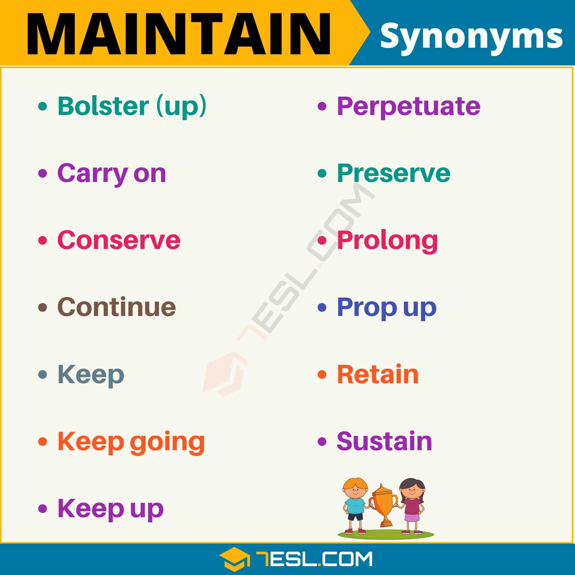 "Another Word for Maintain | 100+ Synonyms for ""Maintain"" with Useful Examples"