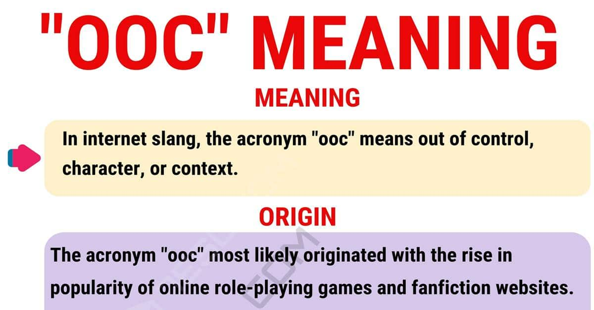 """""""OOC"""" Meaning 