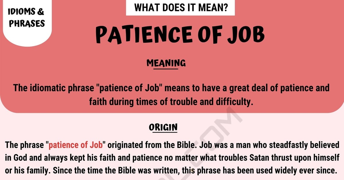 Patience of Job