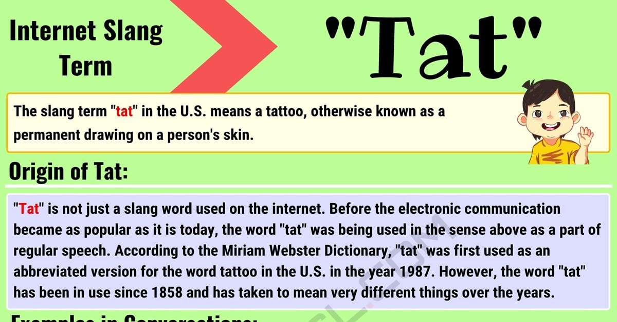 Tat Meaning: What is Tat and When Should You Use It? 1
