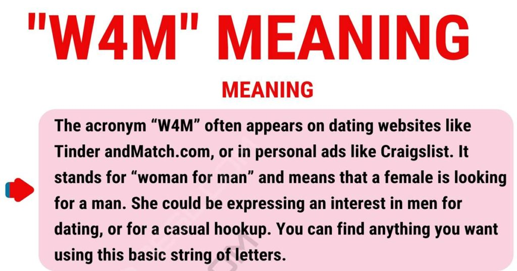 W4M Meaning: What is the Meaning of this Popular Acronym