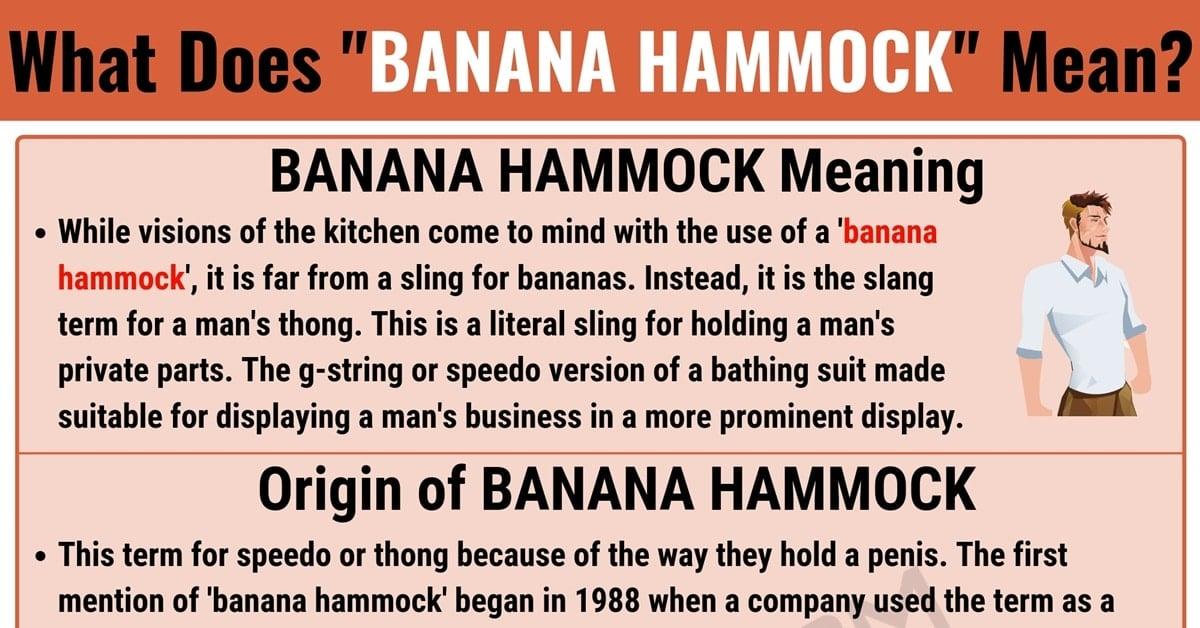 Banana Hammock Meaning: What Does Banana Hammock Mean? 1