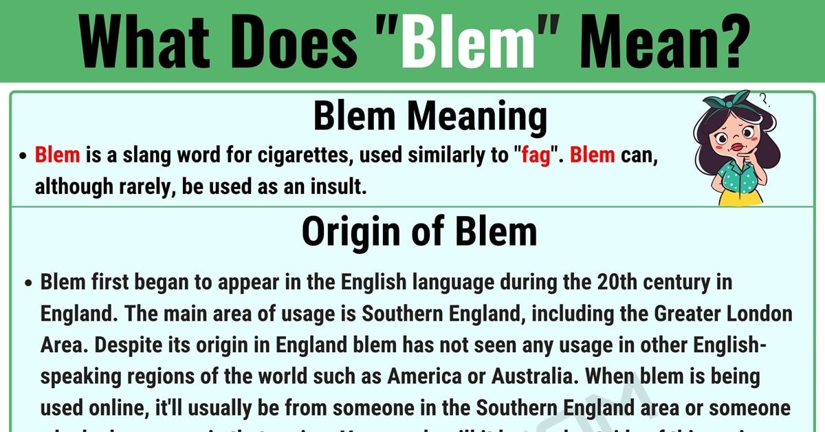 Blem Meaning: What Does the Term 'Blem' Mean in Texting and Online Slang? 1