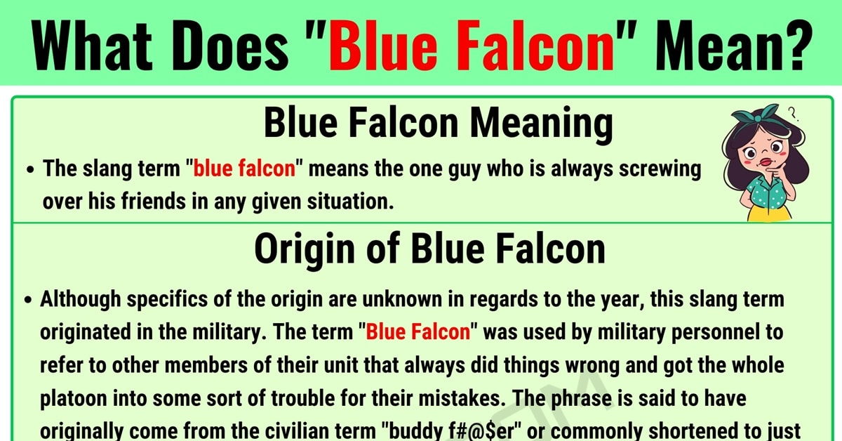 What is Blue Falcon in Internet Slang? (with Useful Examples) 1