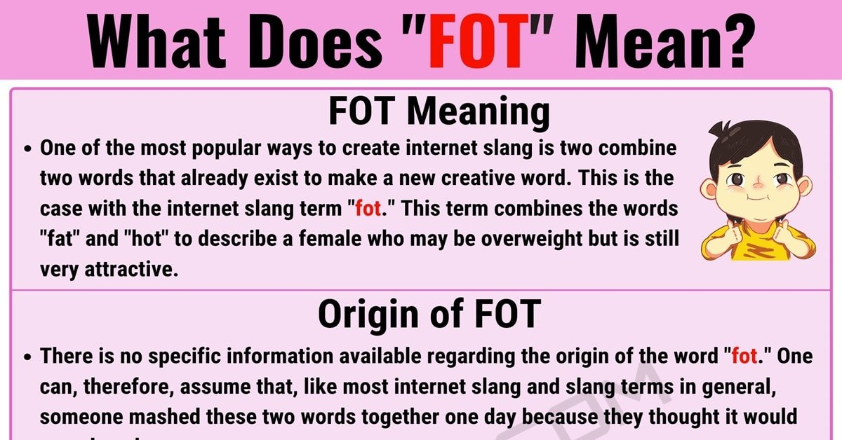 """Fot Meaning: What Does the Popular Term """"Fot"""" Mean in Online Slang? 1"""
