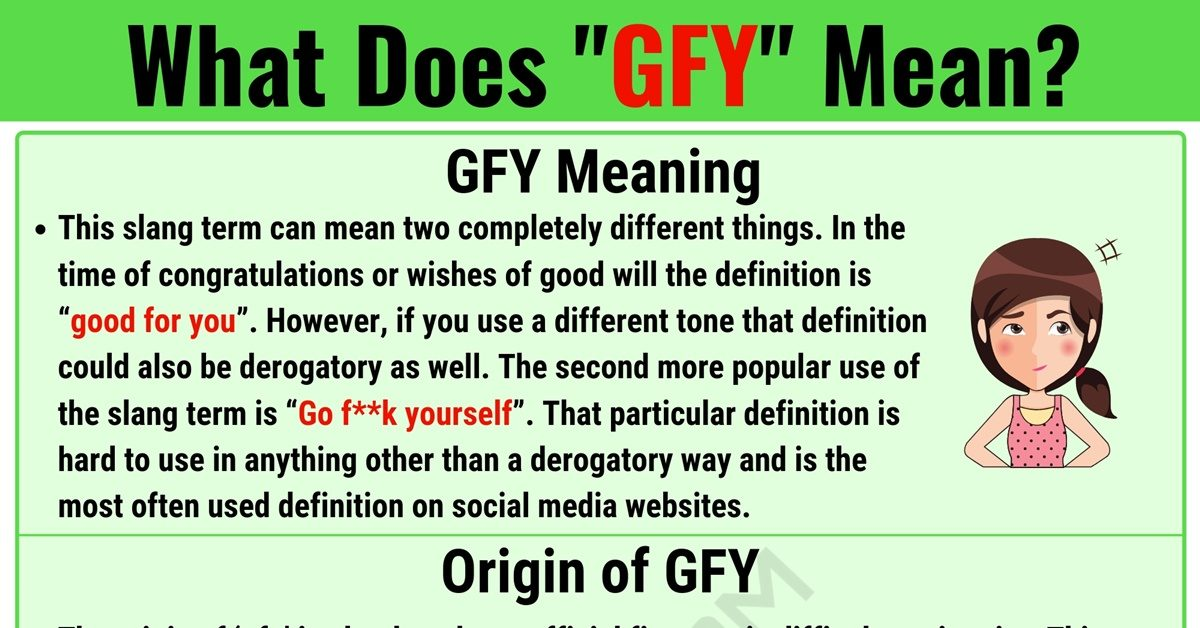 GFY Meaning: What Does GFY Mean? with Useful Examples 1