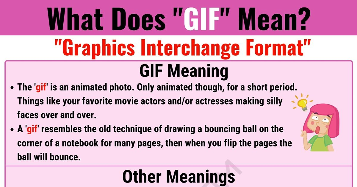 GIF Meaning: What Does GIF Mean and Stand for? 12