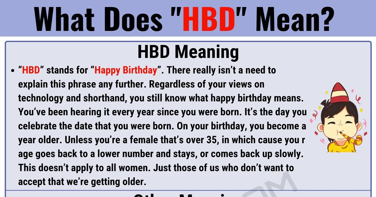 """HBD Meaning: What Does the Popular Acronym """"HBD"""" Mean? 1"""